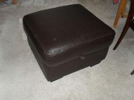 FREE - Dark brown Foot stool with storage.