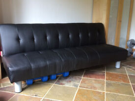 2 Black Sofabeds: £30 each or both for £50