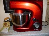 Vonshef 1200 watt stand food mixer-RED
