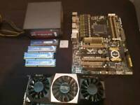 Gaming PC parts, used but in fully working condition