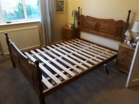 Pine bed for sale - double