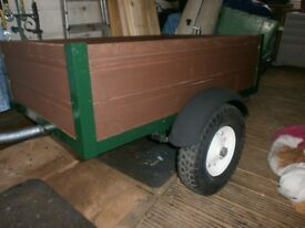 trailer car box camping new wood solid repainted with leaf springs