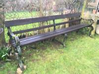 Cast iron 8ft Garden Park Station bench
