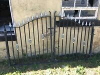 Wrought iron drive gates