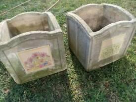 Retro, vintage plant pots