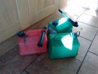 3 petrol diesel cans
