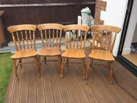 Traditional Wooden Dining Chairs with matching Dining Table