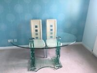 Pagazzi solid glass dining table