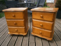 Pair Of Farmhouse Solid Pine Bedside Tables / Drawers Shabby Chic Project ?