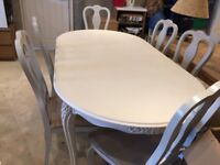 Dining table , white chateau design