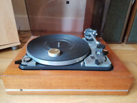 """THIS IS A VINTAGE, STEREO, """"DUAL 1019"""" TRANSCRIPTION UNIT OR TURNTABLE."""