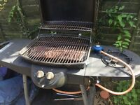Gas BBQ with side burner and winter cover with gas bottle