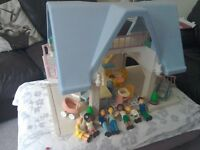 Little Tikes dolls house plus figures and accessories