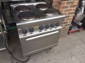 COMMERCIAL CATERING ELECTRIC HOB COOKER OVEN FAST FOOD RESTAURANT CAFE KEBAB CHICKEN TAKE AWAY SHOP