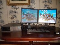 Dell Desktop Computer Intel Core 2 vPro Office PC with Single / Dual Screen