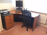 Contemporary Office Desk and Pedestal with 3 Draw - Cheap....