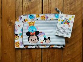 Two Disney Tsum Tsum Makeup Bag