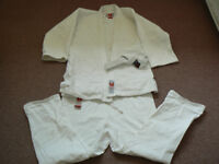 Judo Karate martial arts Gi jacket and trousers strong cotton size 180cm