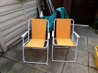 Garden or beach chairs
