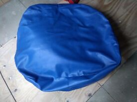 OCEAN BLUE FAUX LEATHER EXTRA LARGE BEANBAG