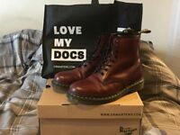 Dr Martens The Originals Cherry Red Boots - Size UK 9 - Like New!