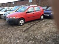 Fiat Punto 5 dr hatchback low mileage nice blue cloth interior in red any trial welcome px conside