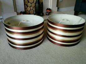 2 x M&S light shades