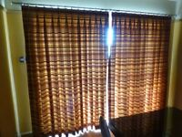 Two pairs of matching lined curtains, one pair window, one pair patio doors.Good condition no fade