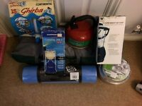 3 man tent (Gelert Stratus Tunnel 3 ) & some camping accessories