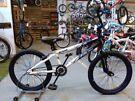 BOYS/GIRLS KENT AMBUSH BMX BIKE 20 INCH WHEELS BLACK/WHITE EXCELLENT CONDITION CHRISTMAS
