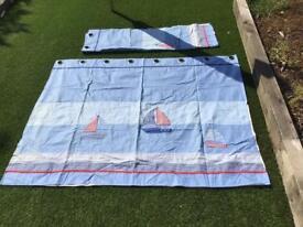 Laura Ashley boat sail curtains 130cm wide x 170cm deep