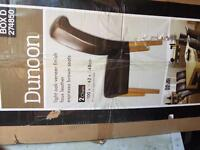 2 dining chairs brown leather new boxed