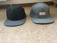 2 x Grey SnapBack Hats (can be sold spectator)