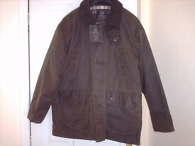 mens country wear p.g.feilds wax jacket large