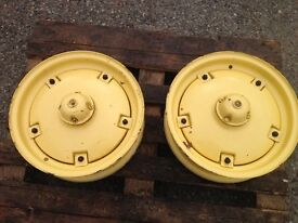 French&Hecht Tractor Wheels - suit Massey Harris Front (Pair) Rims Hub Weights - Vintage & Unused!