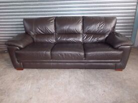 Creations Dark Brown Leather 3+2-seater Suite