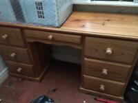 Large Pine Desk/Dressing Table