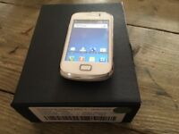 SAMSUNG GALAXY S2 MINI ANY NETWORK BOXED WHITE EDITION