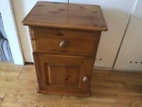 Bedside table solid wood