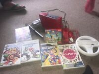 Red Nintendo wii . Excellent condition
