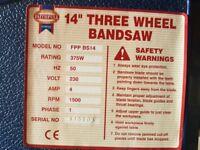 14 inch bandsaw. 120mm cutting depth