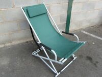 Garden Rocking Chair with Padded Headrest