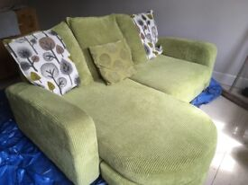 Green chaise end sofa