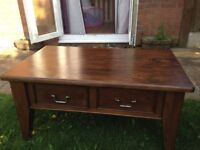 Solid Pine Coffee Table - £15