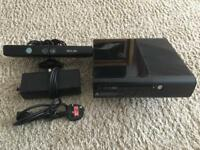 Xbox 360 games console with Kinect and wireless controller