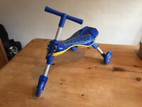 Scuttlebug folding tricycle - 1- 3 years