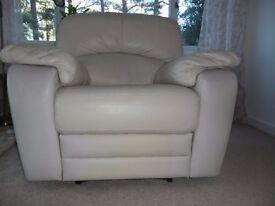 Cream coloured armchair