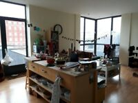 Beautiful furnished 2 bed flat w/balcony in Harbourside - professional or student. Available July