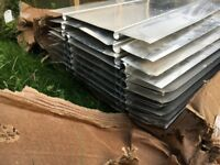 16 lengths of underfloor heating ProWarm Aluminium Spreader Plates 390mm x 1000mm (+ 3 part lengths)