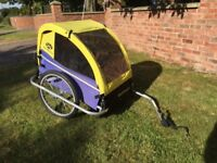 Burley Cycle Trailer for kids.